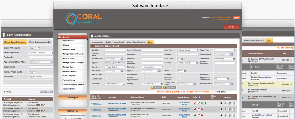 Coral Software Interface